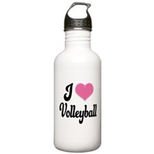 I Love Volleyball Water Bottle