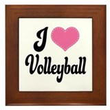 I Love Volleyball Framed Tile