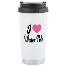 I Love Water Polo Ceramic Travel Mug