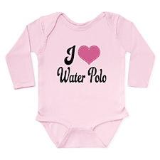 I Love Water Polo Long Sleeve Infant Bodysuit
