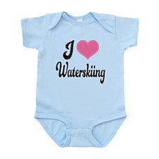 I Love Waterskiing Infant Bodysuit