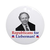 Republicans for Lieberman Ornament (Round)