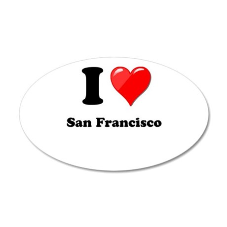 I Heart Love San Francisco.png 20x12 Oval Wall Dec