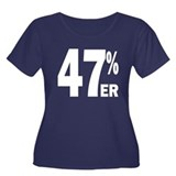 47 Percent-er Women's Plus Size Scoop Neck Dark T-