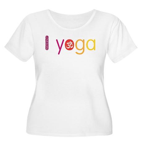 Yoga Town - I YOGA Women's Plus Size Scoop Neck T-