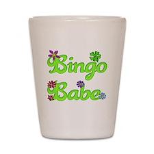 Bingo Babe Bubble Floral Shot Glass