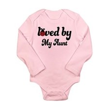 Loved By Aunt Long Sleeve Infant Bodysuit