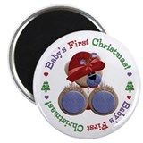 "Cute Teddy 1st Christmas 2.25"" Magnet (10 pack)"