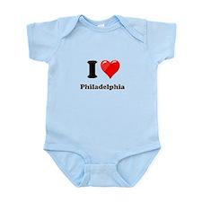 I Heart Love Philadelphia.png Infant Bodysuit