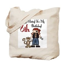 Pirate Party 6th Birthday Tote Bag