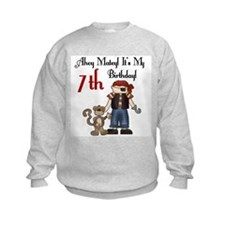 Pirate Party 7th Birthday Sweatshirt