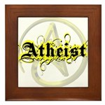 Atheist Yellow Framed Tile