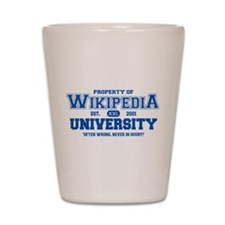 Wikipedia University Shot Glass