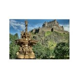 Edinburgh Castle 98 , Scotland Rectangle Magnet