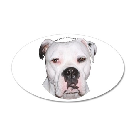 American Bulldog copy.png 35x21 Oval Wall Decal