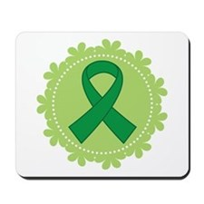 Green Ribbon Scallop Mousepad