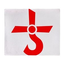CROSS OF KRONOS (MARS CROSS) Red Throw Blanket