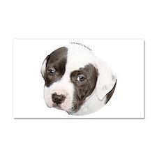 American pit bull terrier pup copy.png Car Magnet