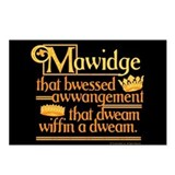 Princess Bride Mawidge Speech Postcards (Package o