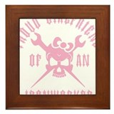 Proud Girlfriend of an Ironworker - PINK Framed Ti