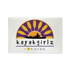 Kayakgirlz Purple Logo Rectangle Magnet