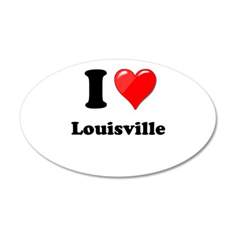 I Heart Love Louisville.png 20x12 Oval Wall Decal