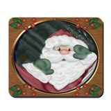 Santa Peeking Through Window Mousepad