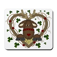 Christmas Reindeer Wreath Mousepad