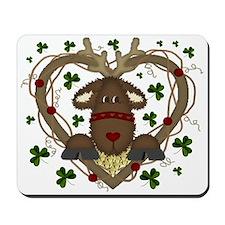 Christmas Reindeer Wreath Mousepad