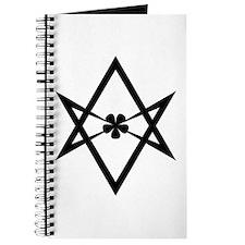 Unicursal hexagram (Black) Journal