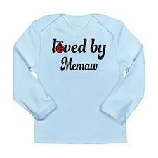 Loved By Memaw Ladybug Long Sleeve Infant T-Shirt
