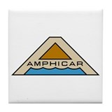 Amphicar Logo Tile Coaster
