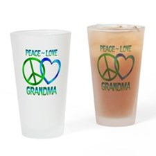 Peace Love Grandma Drinking Glass