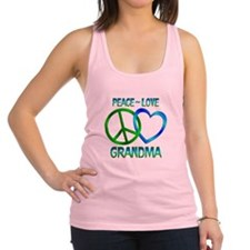 Peace Love Grandma Racerback Tank Top