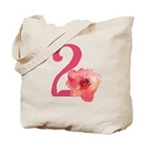 Floral 2nd Birthday Tote Bag