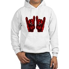 Metal Hands (Malocchio) Red Hoodie