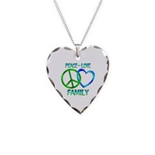 Peace Love Family Necklace