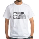 My Good Pig Ash Grey T-Shirt T-Shirt
