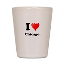 I Heart Love Chicago.png Shot Glass