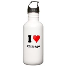 I Heart Love Chicago.png Water Bottle