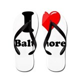 I Heart Love Baltimore.png Flip Flops