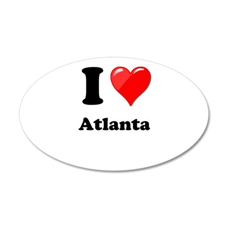 I Heart Love Atlanta.png 20x12 Oval Wall Decal