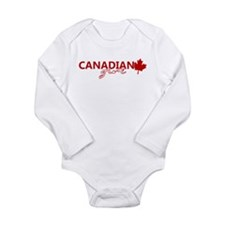Canadian Girl Long Sleeve Infant Bodysuit