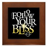 Follow Your Bliss Black Framed Tile