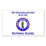 Sticker: Granddaughter In National Guard