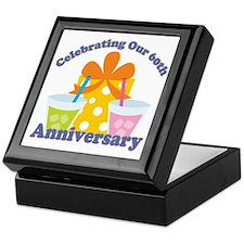 60th Anniversary Party Gift Keepsake Box