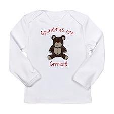Grandma Teddy Bear Long Sleeve Infant T-Shirt