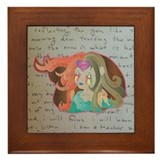 super supreme girl Framed Tile