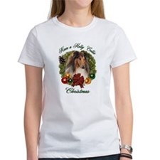 Holly Collie Christmas Tee