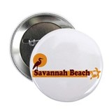"Savannah Beach GA - Beach Design. 2.25"" Button"